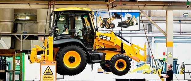 A-JCB-backhoe-loader-on-the-UK-production-line