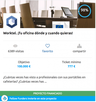 Fellow Funders cierra de manera exitosa su primer crowdfunding con Worktel