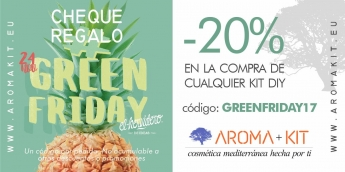 Aromakit se une al GreenFriday, la alternativa al BlackFriday para fomentar el consumo sostenible